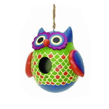 Resin Indoor Outdoor Owl Birdhouse for Sale