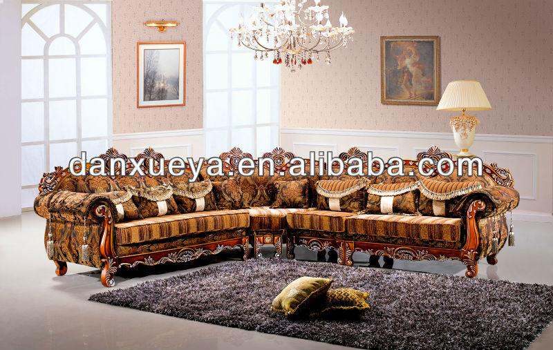 Antico in legno massello divano ad angolo 3102#-Divani di ...