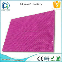 Closed cell high density foam sheets with texture