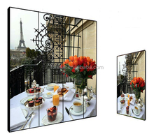 cost effective thin bezel advertising led backlight lcd floor stanidng display screen indoor