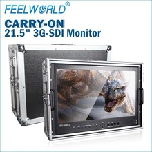 "21.5"" High Resolution 1920x1080 3G HD SDI HDMI inputs IPS monitor dc 12 volt for film and broadcasting"