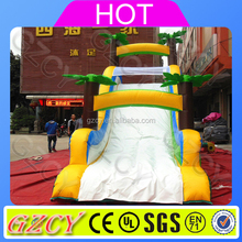 Small tropical coconut trees inflatable climbing water slide for sale