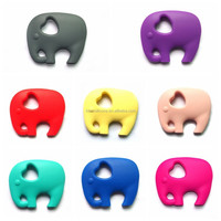 Adorable elephant soft silicone toys / chewing teether and teething gel for babies