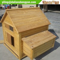 Wood house style chicken coop design, hen house