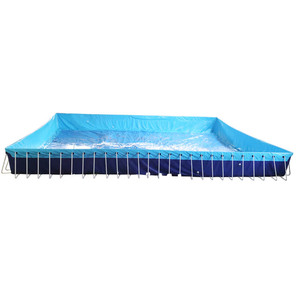 High quality 0.9mm pvc inflatable pool rental in fwulong company
