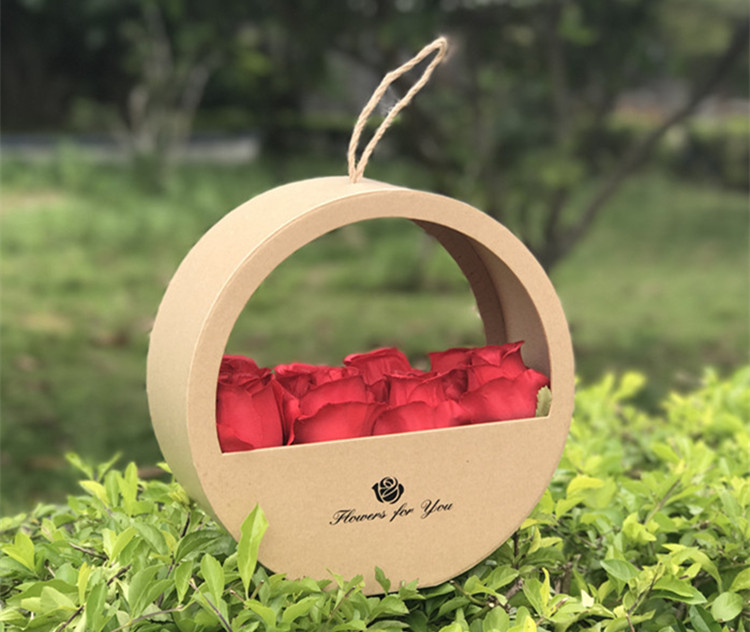 Luxury hanging round box gift flower boxes
