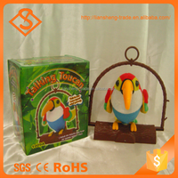 Colorful long billed battery operated toys talking parrot for gift
