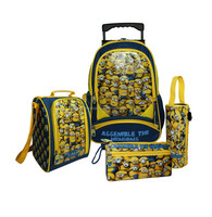 New Kids' Book Bag Child Boy Girl Cartoon School bag Preschool Series of Minion Backpack lunch bag pencil case