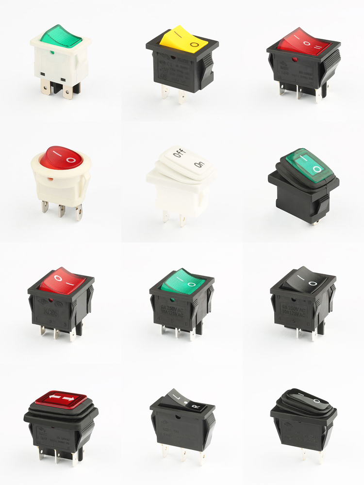 KCD8 on sale free sample illuminated rocker switch 6a 250v 5e4 t85