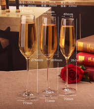 190/270ml Lead free crystal champagne goblet Wine glass Champagne Cup 2pcs/ gift box sparkling glass glass