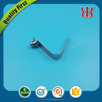 Stainless steel pipe tube clip V shape button spring clip flat metal clip