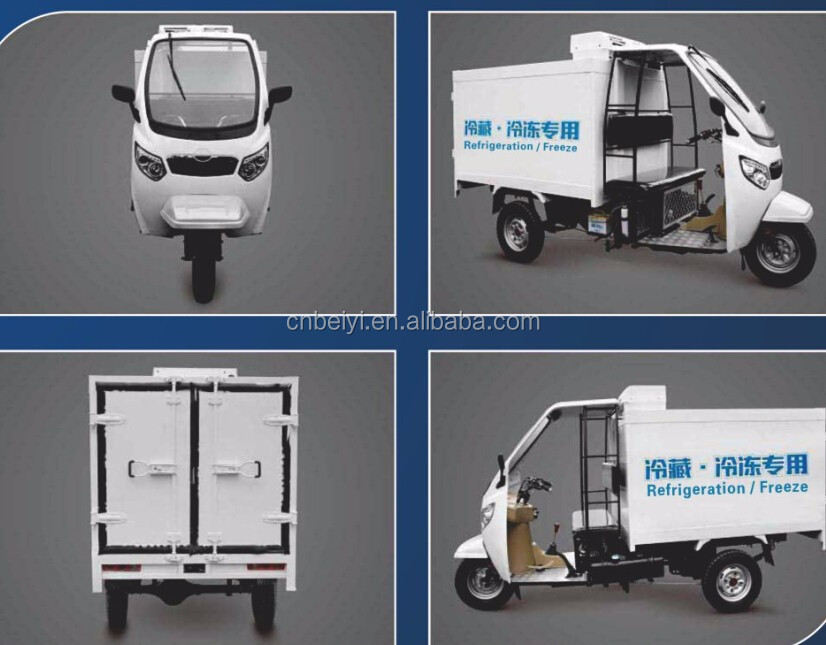 2016 hot sale hot sale Heavy Load 1400W Icecream 250cc water cooled 3 Wheel Car cargo adult three wheel motorcycle In Peru