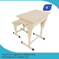 adjustable school desk and chair with classic wooden