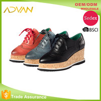 Women Shoes Casual Pointed Toe Platform Lace Up Bullock Flat Women Shoes