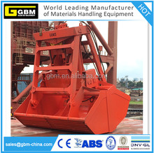 GBM 25t 6-12cbm hydraulic radio remote control grab bucket for bulk carrier vessel grab grapple with single rope