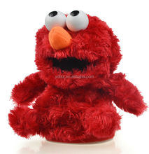 red singing bird stuffed toy