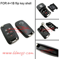 Best Auto key qualified for 4+1 buttons Opel Vivaro Remote Replacement keyless flip key of Opel Vectra