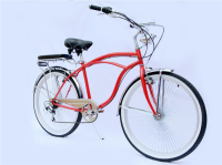 "Mens Customized Hi-Ten Steel Beach Cruiser Bike 26"" beach bicycle strong beach bikes"