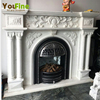 Stone Fireplace Frame Indoor Used Marble Decorative Fireplace Mantel