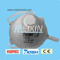 Disposable Protective N95 dust mask cone type without valve