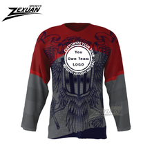 team High Quality tops Sublimation Ice Hockey Jersey