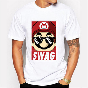 M40 Women Men Tops Original Collage T-Shirt 90s Video Game Mario Characters Cartoon Tee Anime 3d Print T Shirt