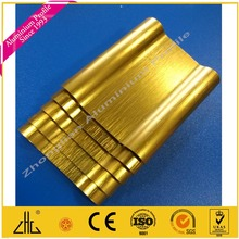 qualified furniture aluminium extrusion profile in china /good Gold/silver/black/copper brushed aluminium extrusion factory