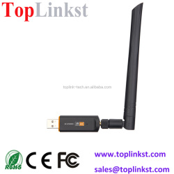 High speed 802.11ac 2T2R 1200Mbps Realtek USB 3.0 wifi adapter with WPS