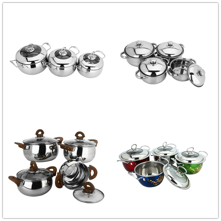 5pcs cookware sets cookware cooking pot stainless steel Soup Stock Pots