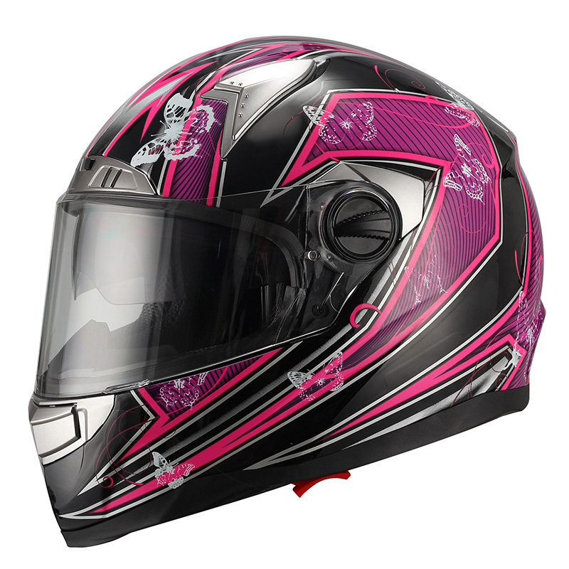 2015 New full face Jet Motorcyle Crash Helmet FF001 White-Red