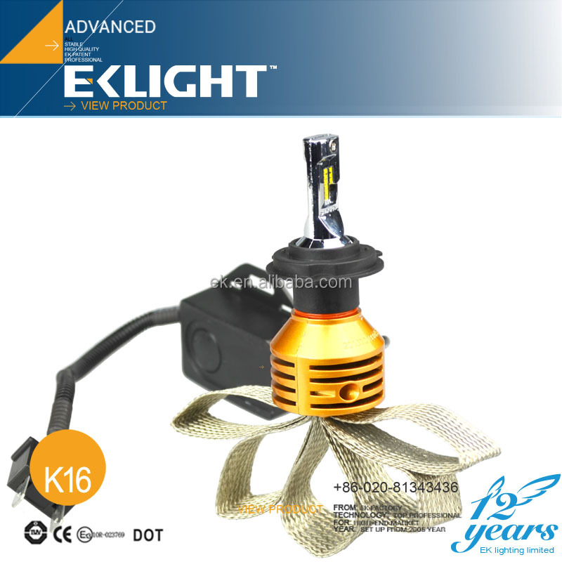 EKLIGHT ISO Factory TUV/CE/Emark Approved Wholesale Auto Lighting H4 H7 H11 9005 H13 Car laser led headlamp