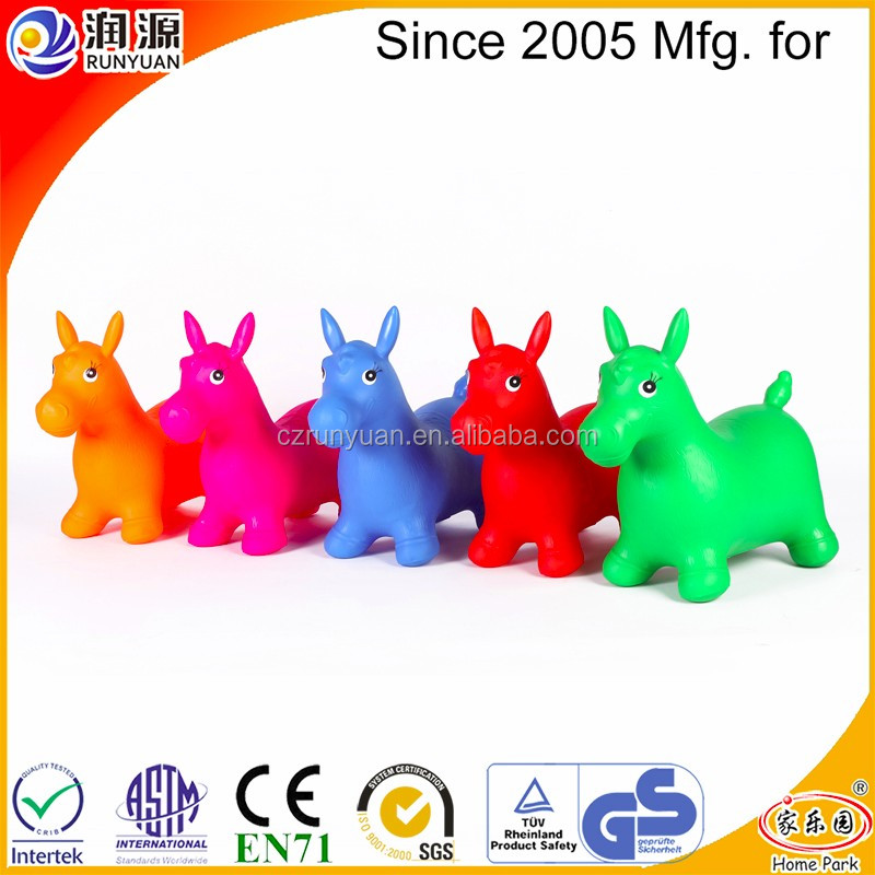 jumping animal PVC inflatable bouncing horse without music and paint normal hopping animal
