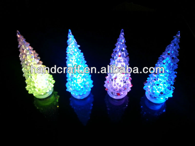 solar christmas LED tree for home decoration