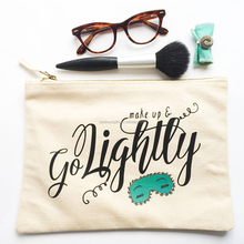 Easy carrying 100%cotton canvas eco cosmetic bag travel 2016