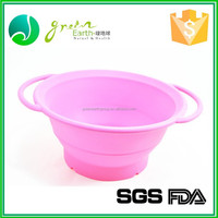 BPA Free Customed Color FDA Anti-skid foldable collapsible silicone dog bowls