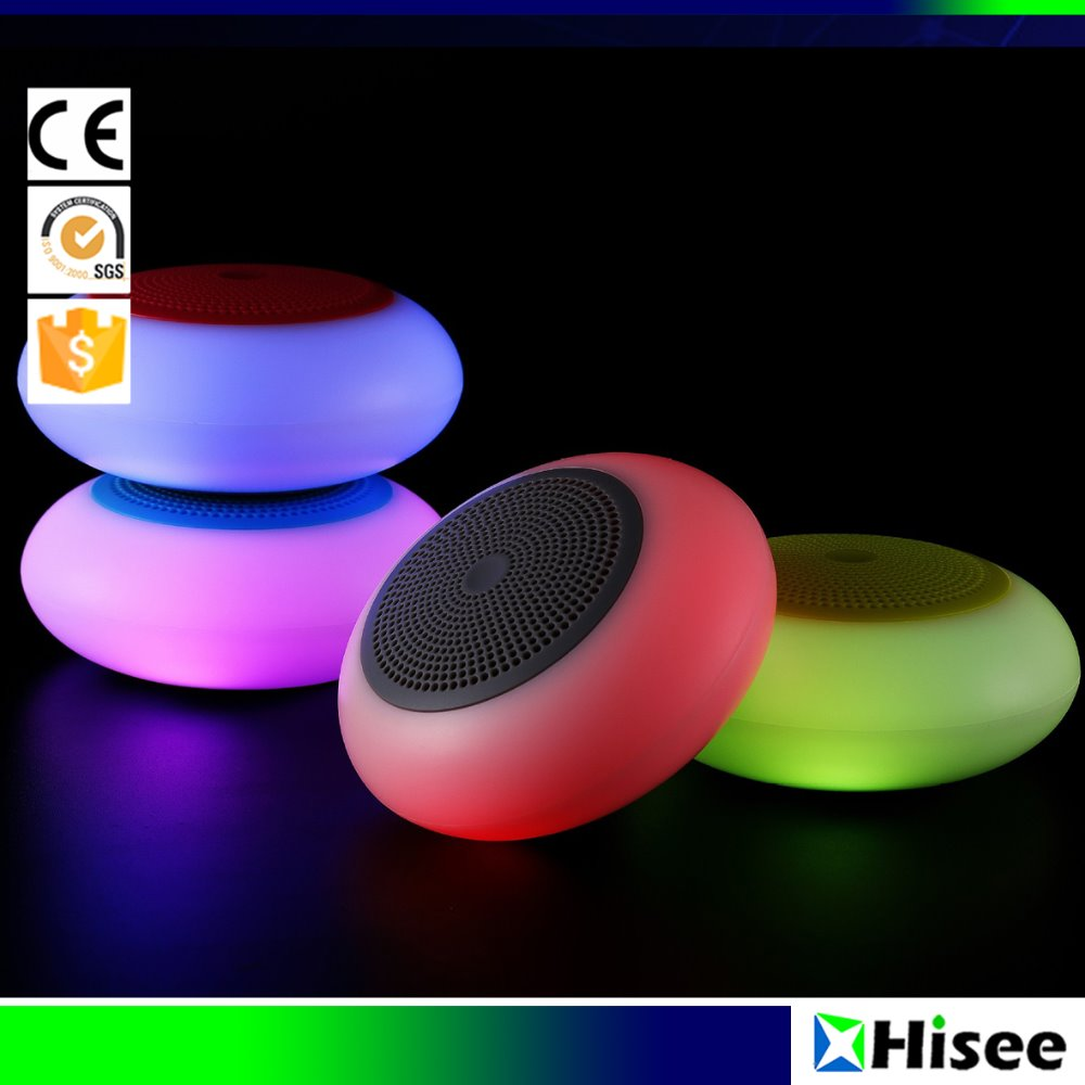 China factory wholesale multi color light bluetooth rechargeable speaker