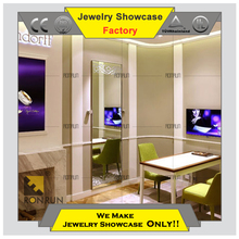 2017 Top rated Customized boutique furniture jewelry store display counter