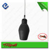 Insecticidal Bulb rubber duster with plastic extension