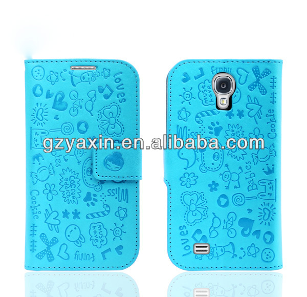 Best Seller Leather belt clip holster case for samsung galaxy s4 i9500