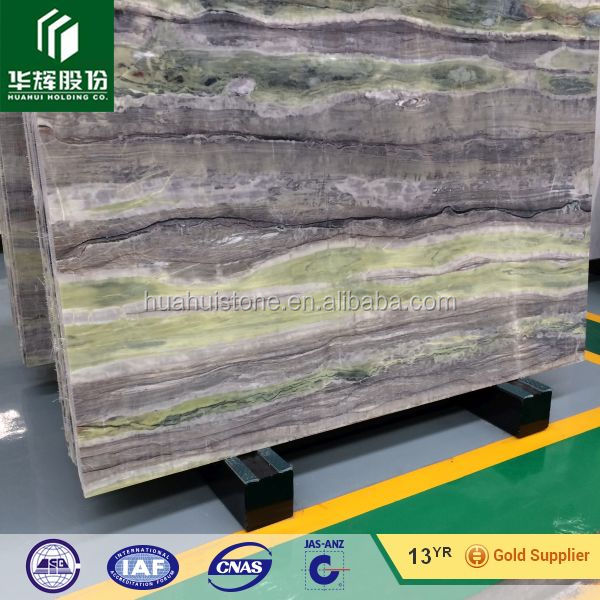 Green wooden onyx marble slabs price