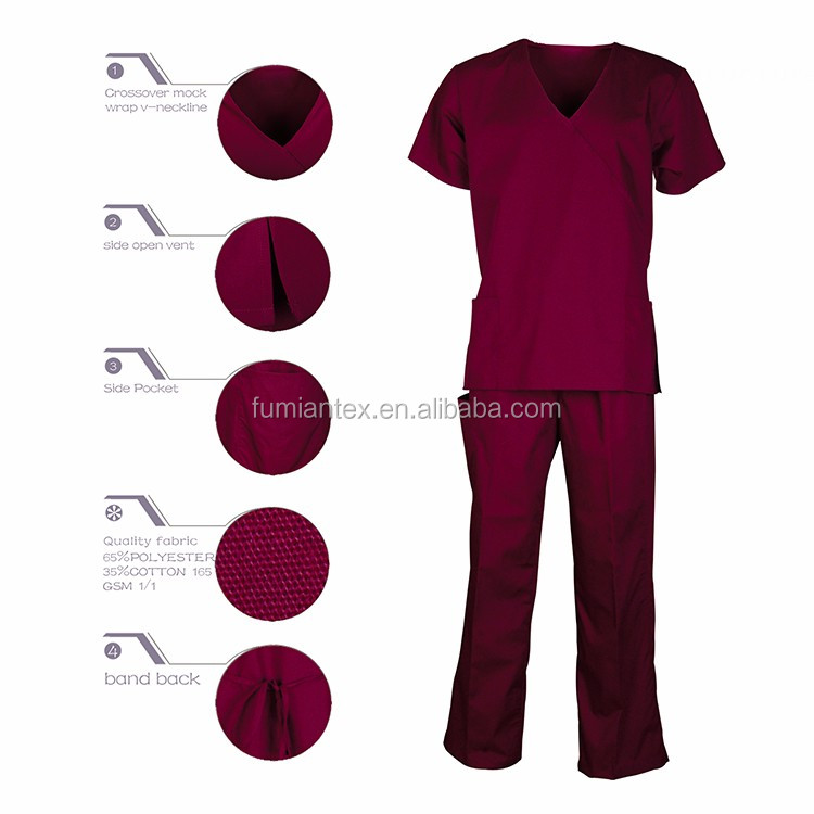 Professional Wholesal Top Quality Nurse Scrub Set