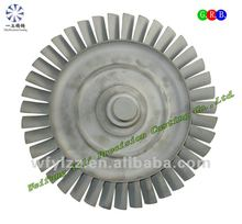 Superalloy turbine wheel used for military aircraft parts
