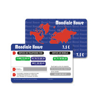 Pvc Phone Calling Rechargeable Card Prepaid