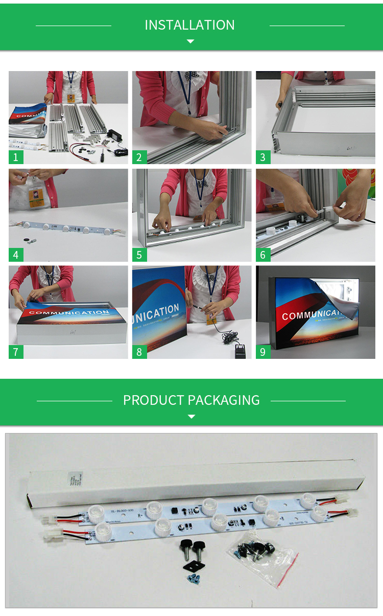 5  LED edge-lit light bars for posterbox led modules