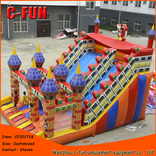 Children Play Center Fun Giant Slides Inflatable Outdoor Playground for kids bounce house