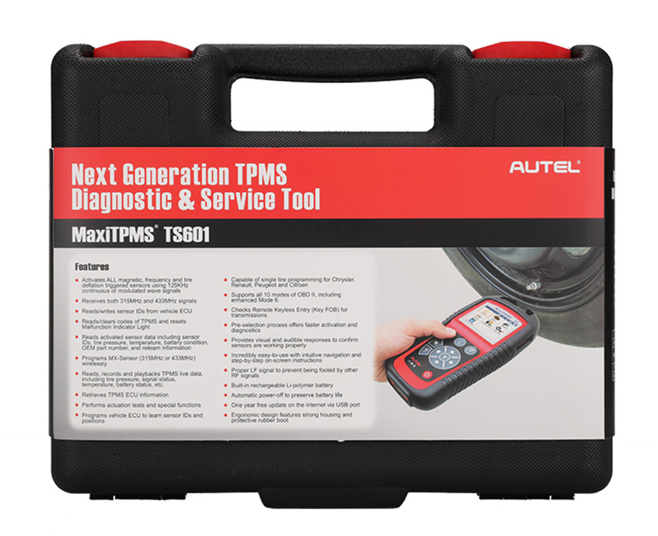 Newest Autel TPMS TS601 Diagnostic Scanner MaxiTPMS Autel TS601 with one year Free Update and high performance