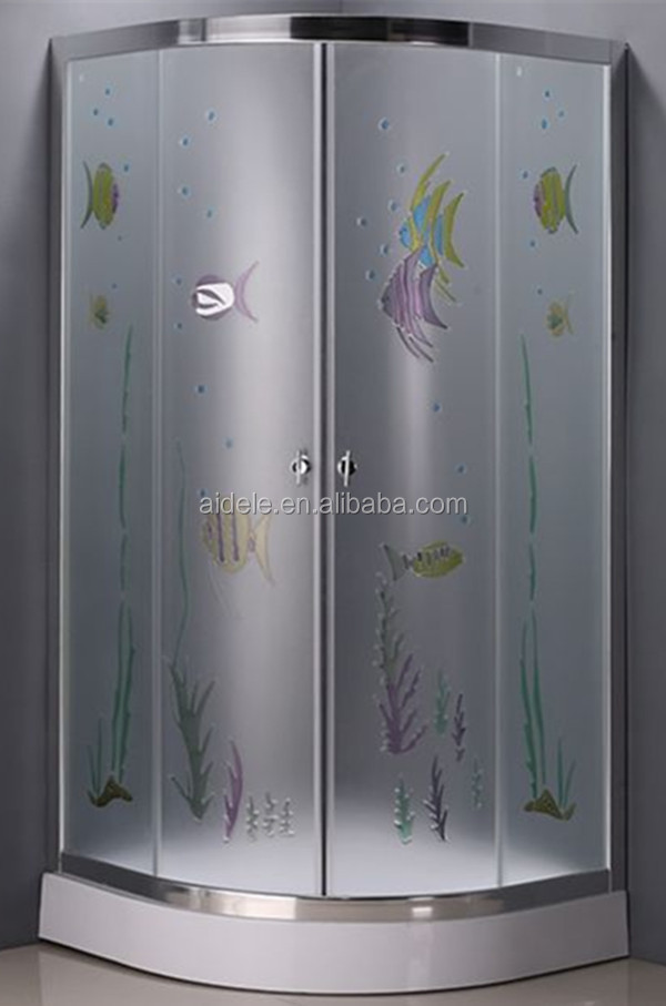 China supplier tempered color glass shower bath