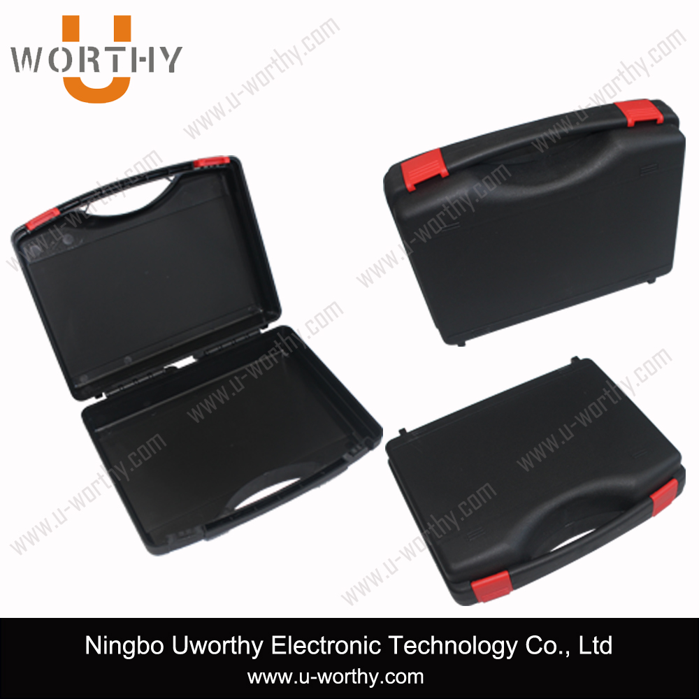 2015 new hard plastic laptop case with handle
