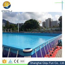 Summer amusement park metal frame inflatable square swimming pool/ inflatable pool for sale