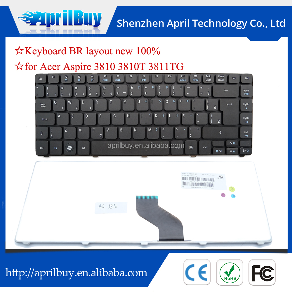 For Acer 3810 3810t 3811tg brazil layout laptop keyboard